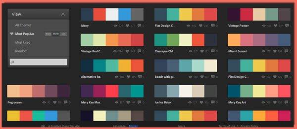 رنگ بندی در طراحی قالب سایت